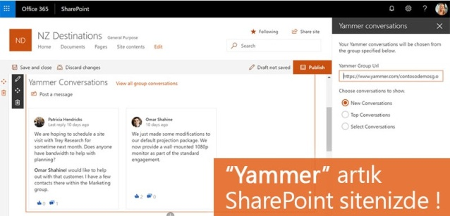 yammer ve sharepoint